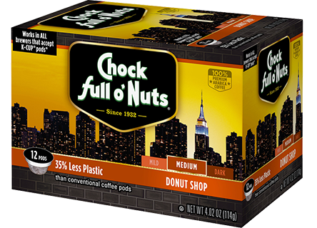 Chock Full O' Nuts Donut Shop K-Cup Box